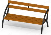 Скамейки на металлическом каркасе